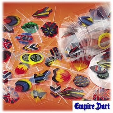 60 Dart Flights (20 set), various colors and shapes