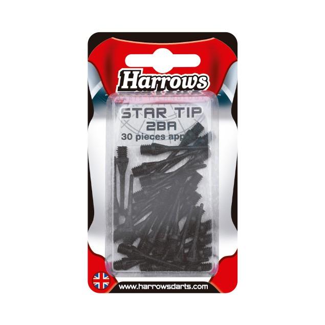 50 WHITE  HARROWS H-TIP SOFT TIPS   2BA THREAD