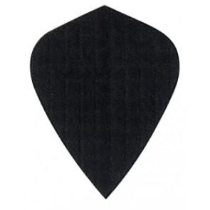 Nylon Longlife Fabric Flights - Kite - Black