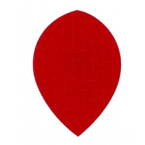 Nylon Longlife Fabric Flights - Pear - Red