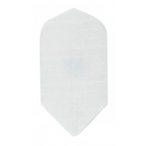 Nylon Longlife Fabric Flights - Slim - White