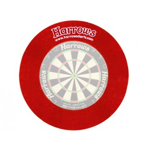 Harrows Dartboard Surround wall protection in red