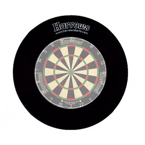 Harrows Dartboard Surround wall protection in black