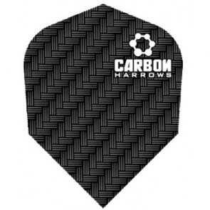 F7121 Carbon Black Std Dart Flights 3 sets per pack (9 flights in total)