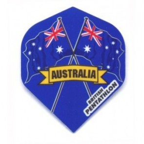 British Pentathlon Flag Country Dart Flights Australia