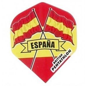 British Pentathlon Flag Country Dart Flights Spain