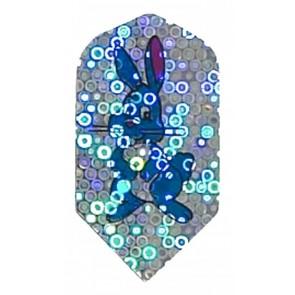 2D Hologram Blue Bunny Slim Flights