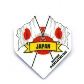 British Pentathlon Flag Country Dart Flights Japan