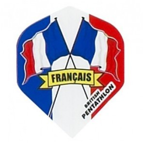 British Pentathlon Flag Country Dart Flights France