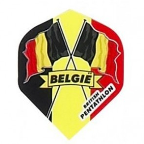 British Pentathlon Flag Country Dart Flights Belgium