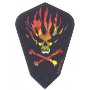 Harrows Fantail Flaming Skull Kite Flights
