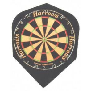 Harrows Quadro Dart Board Fullsize Flights