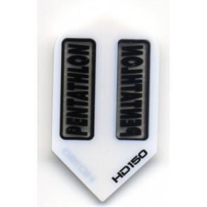Pentathlon HD2 WHITE SuperTough HD 150 Dart Flights, Slim