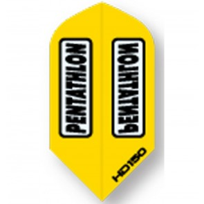 Pentathlon YELLOW SuperTough HD 150 Dart Flights, Slim