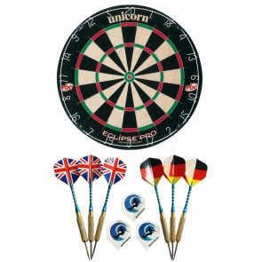 Unicorn Eclipse PRO Bristle Dartboard INCL. 6 beginner darts