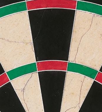 PDC dartboard segments